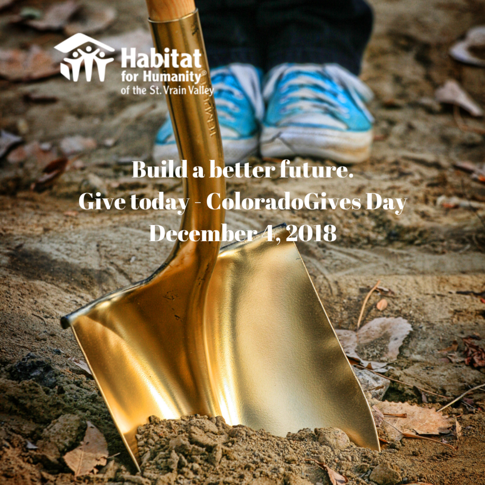 12/4/18  -  Today is ColoradoGives Day!  Give to build a better future for families. Click  here  or the image to donate.
