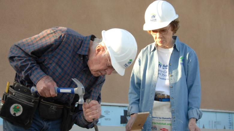 In honor of President's Day, we want to mention a former US President affiliated with Habitat for over 35 years, Jimmy Carter and his wife, Rosalyn, committed to affordable housing. Happy President's Day!  Learn more .