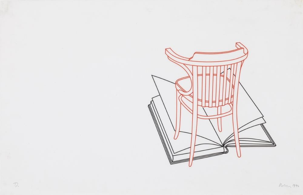 Untitled (book, chair)