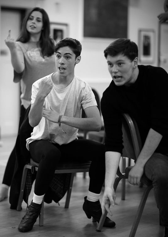 As New Yorker's would say - Rent is a musical with balls!  (Photo:  Elly Fenton ,  Jamie McNicholas  &  Matt Hough  give it some attitude in early rehearsals, courtesy of  Front of House Photography )