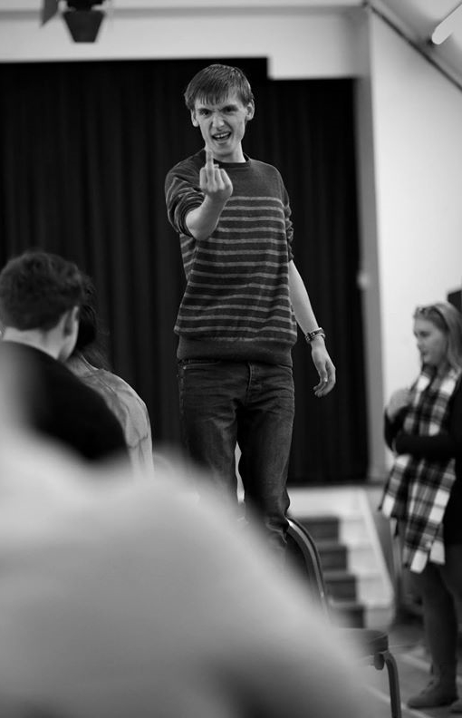 Freddie with attitude & altitude! - in rehearsal  (Photo courtesy of  Front of House Photography  )