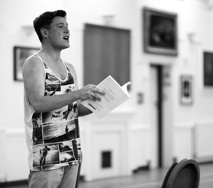 Matt in an early rehearsal  (Photo courtesy of  Front of House Photography )
