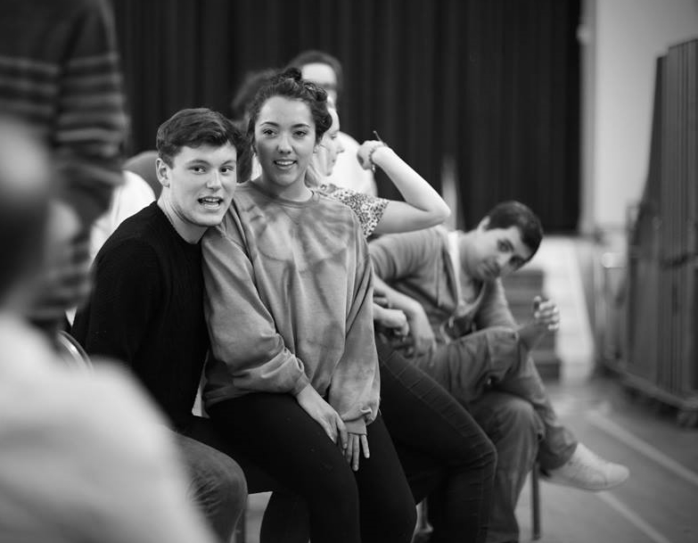 Matt as Roger with  Grace Mouat  as Mimi in rehearsal  (Photo courtesy of  Front of House Photography )