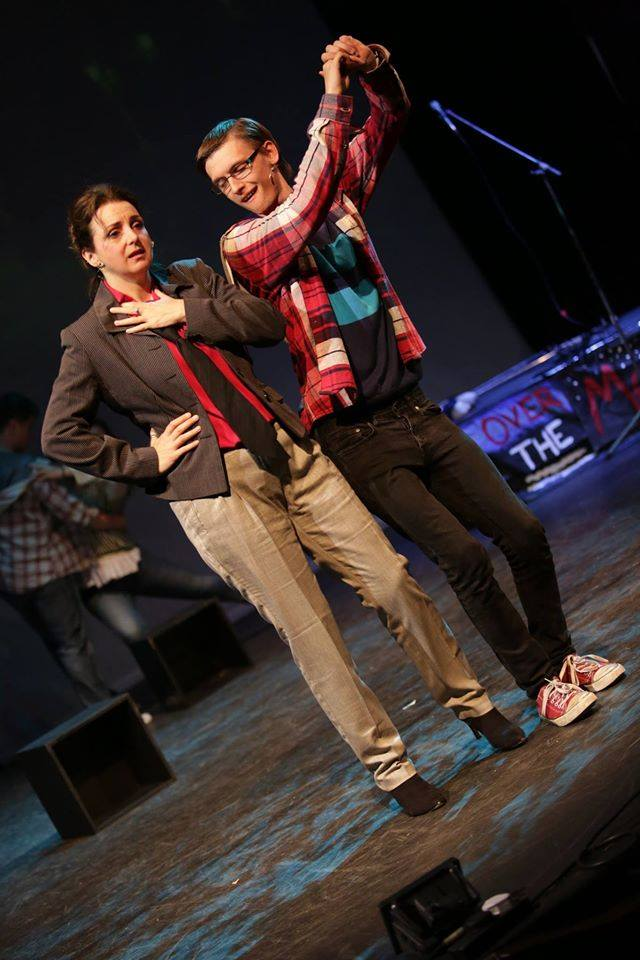 Joanne (  Maria Langford  ) & Mark (  Freddie Cox  ) Photo Credit:  Front of House Photography