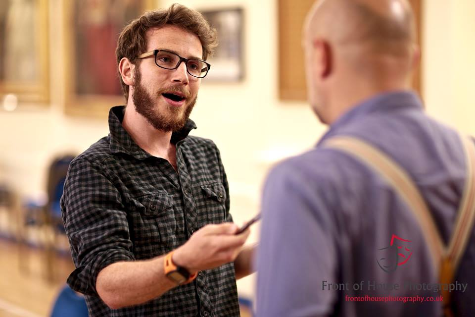 Neil in rehearsal with Daren Street (Photo courtesy of  FRONT OF HOUSE PHOTOGRAPHY )