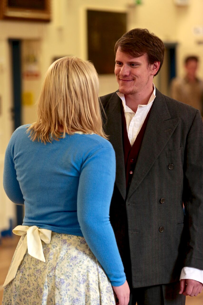 Jamie in rehearsal with Emma Hough (PHOTO COURTESY OF   FRONT OF HOUSE PHOTOGRAPHY  )
