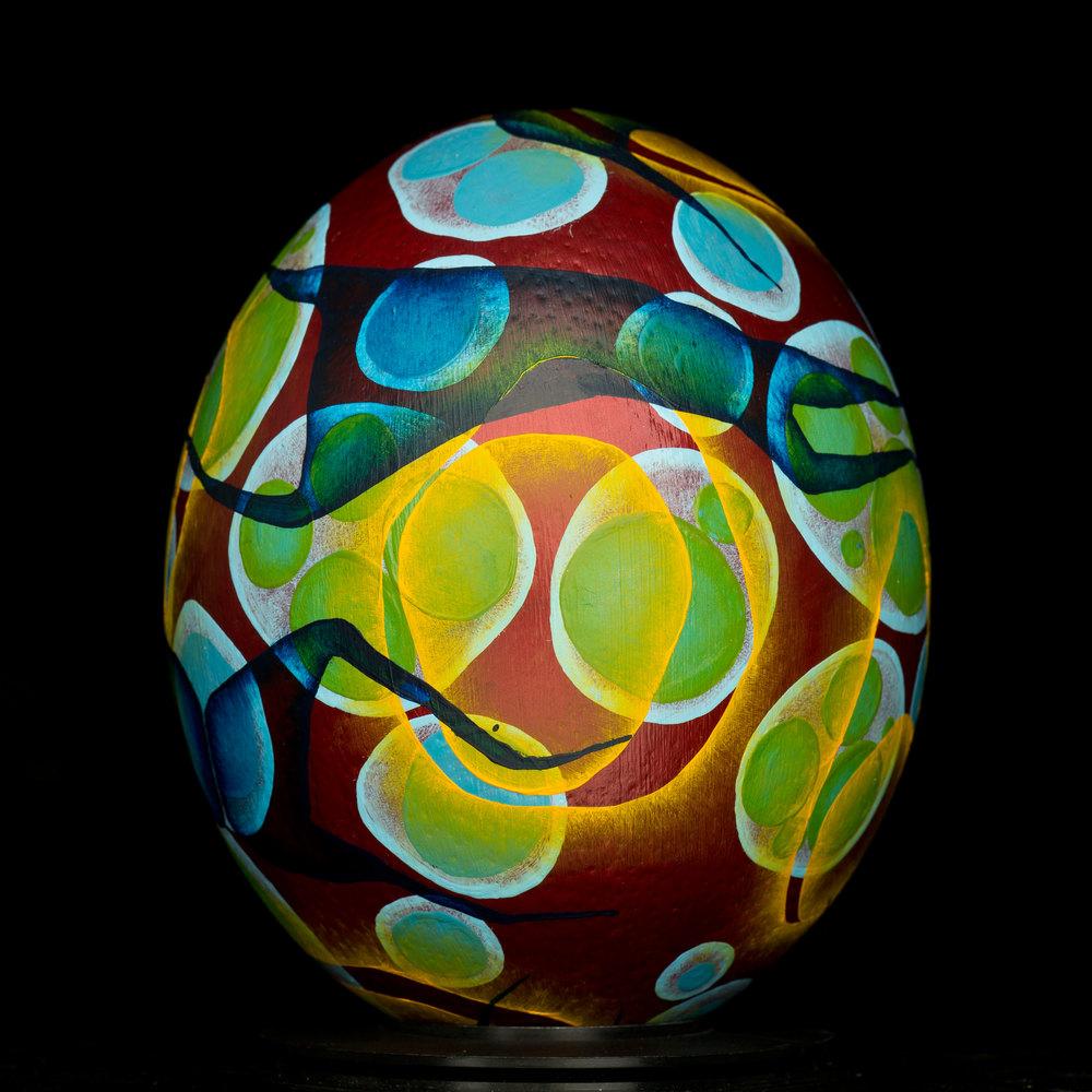 Blood Egg .Oil Paint
