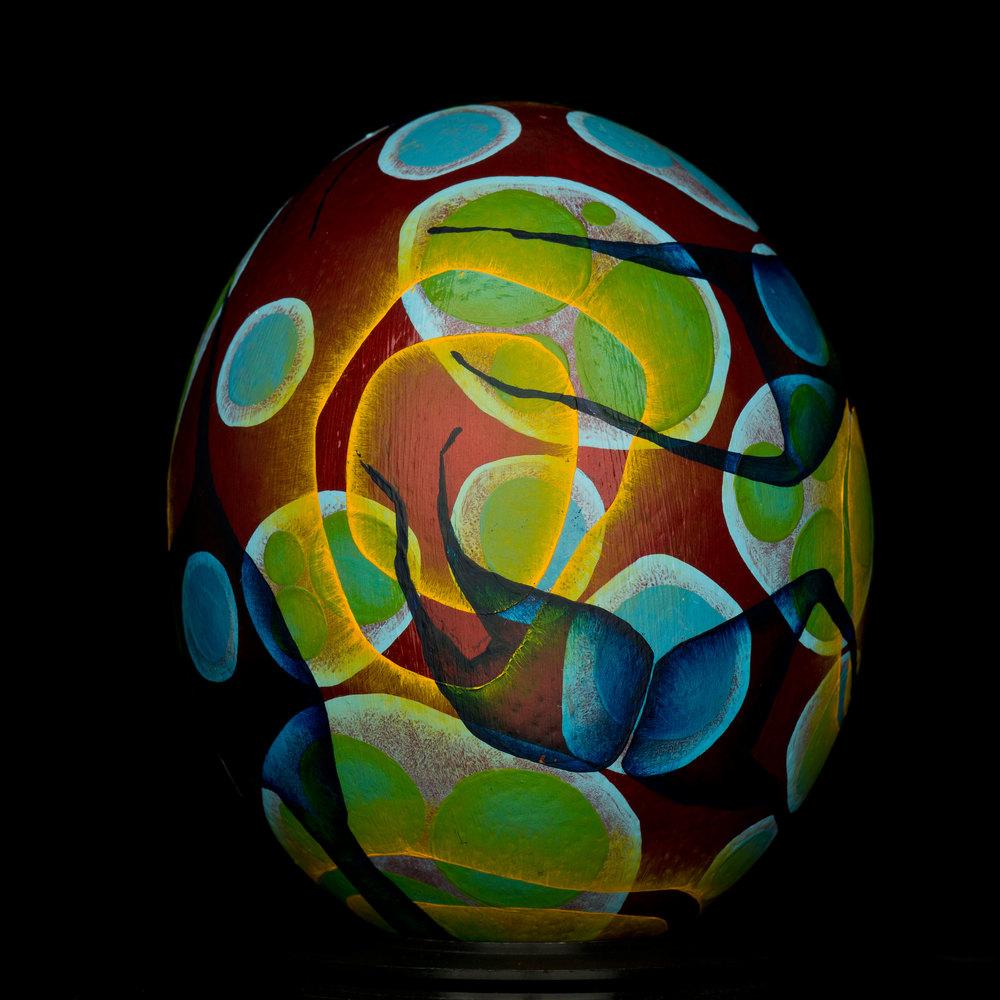 Blood Egg. Oil Paint