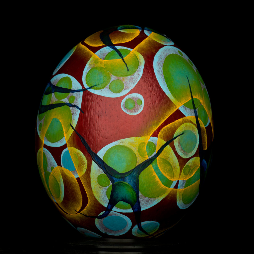 Blood Egg . Oil Paint