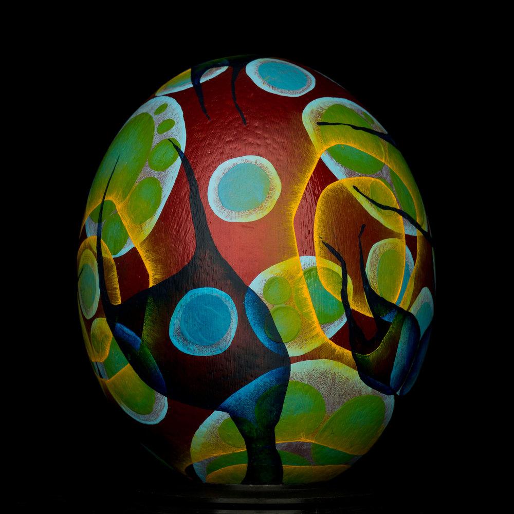 Blood Egg.Oil Paint
