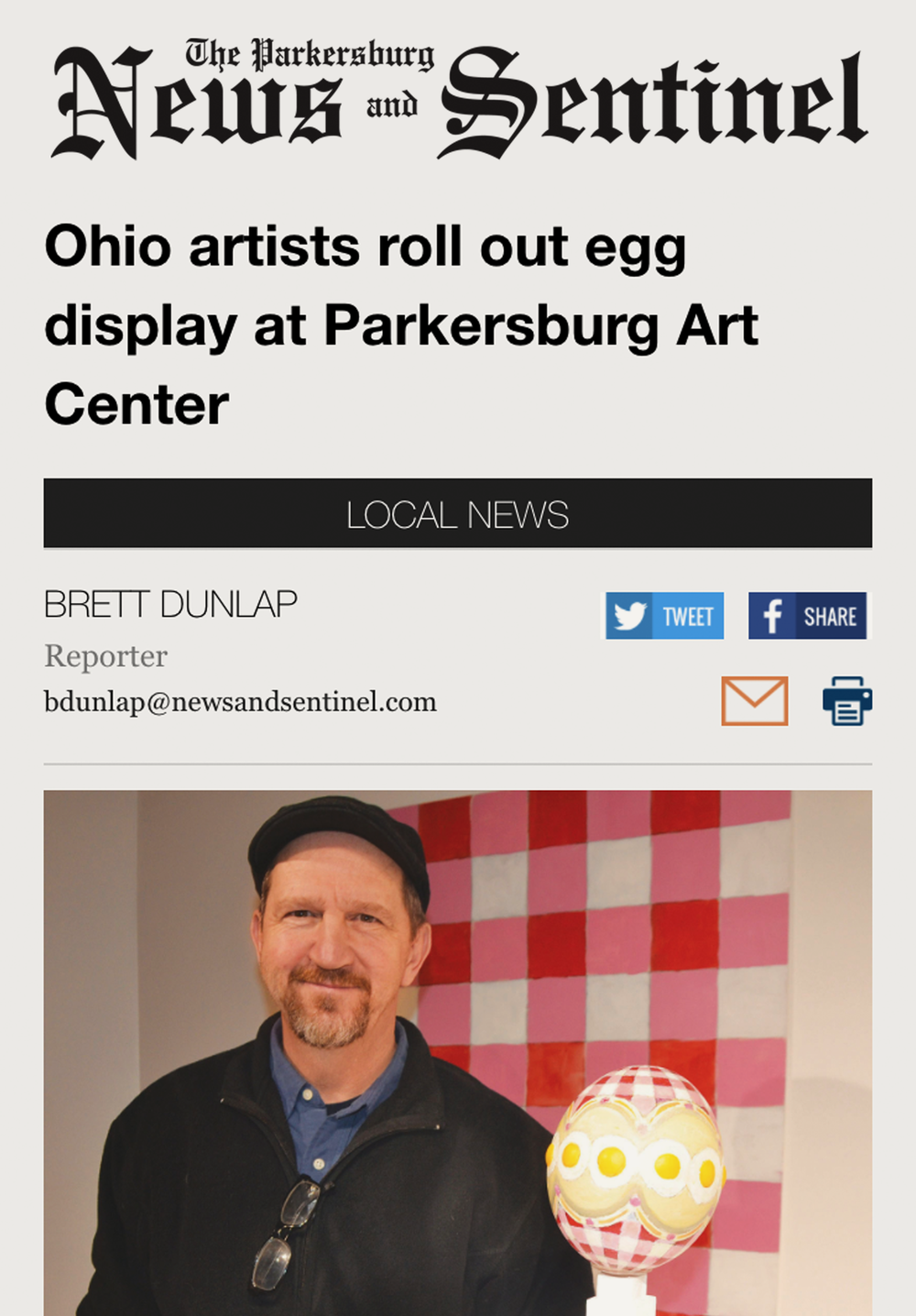 Read the March 13, 2017  Parkersburg News & Sentinel  story