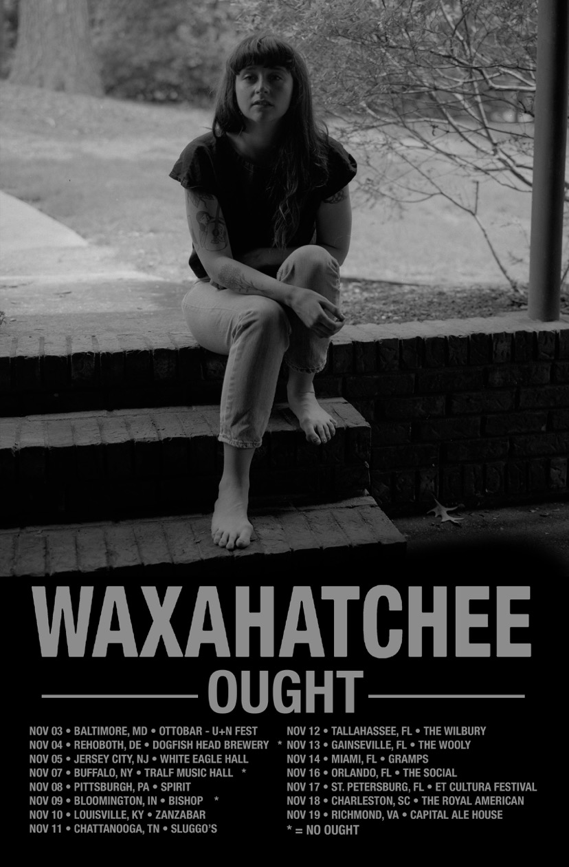 Monday, November 13th Motorbreath Presents: WAXAHATCHEE OUGHT at The Wooly 20 N Main street Downtown Gainesville www.thewoolygainesville.com