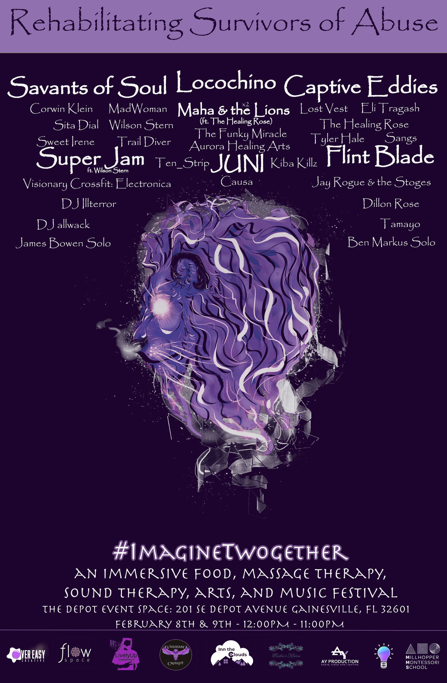 532a3aff3bf7 FRI 2.8 - SAT 2.9 - Maha   The Lions presents ImagineTwogether at The Depot  Event Space - 12 00pm — The Wooly