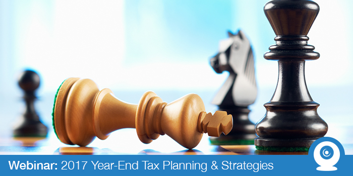 November 2017: Year-End Tax Planning