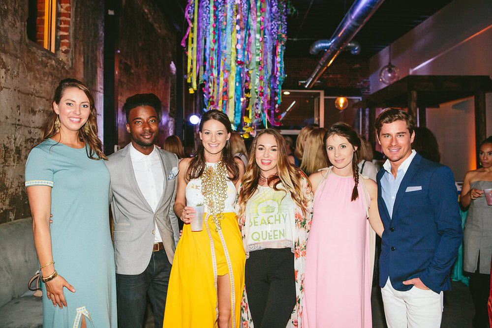 Handley McCrory of Handley Breaux Designs, Randall Porter of Thread Reporter, Heather Wylie designer of Bohem & Bohemian Bop, Kim Hightower of Gypset Beauty Co., Mary Catherine Folmar of Cotton & Quill, William Mclure Interior Designer & Artist