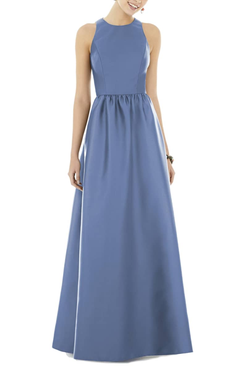 This color  dress  might just be our favorite! Pair it with some statement earrings for a bold look.