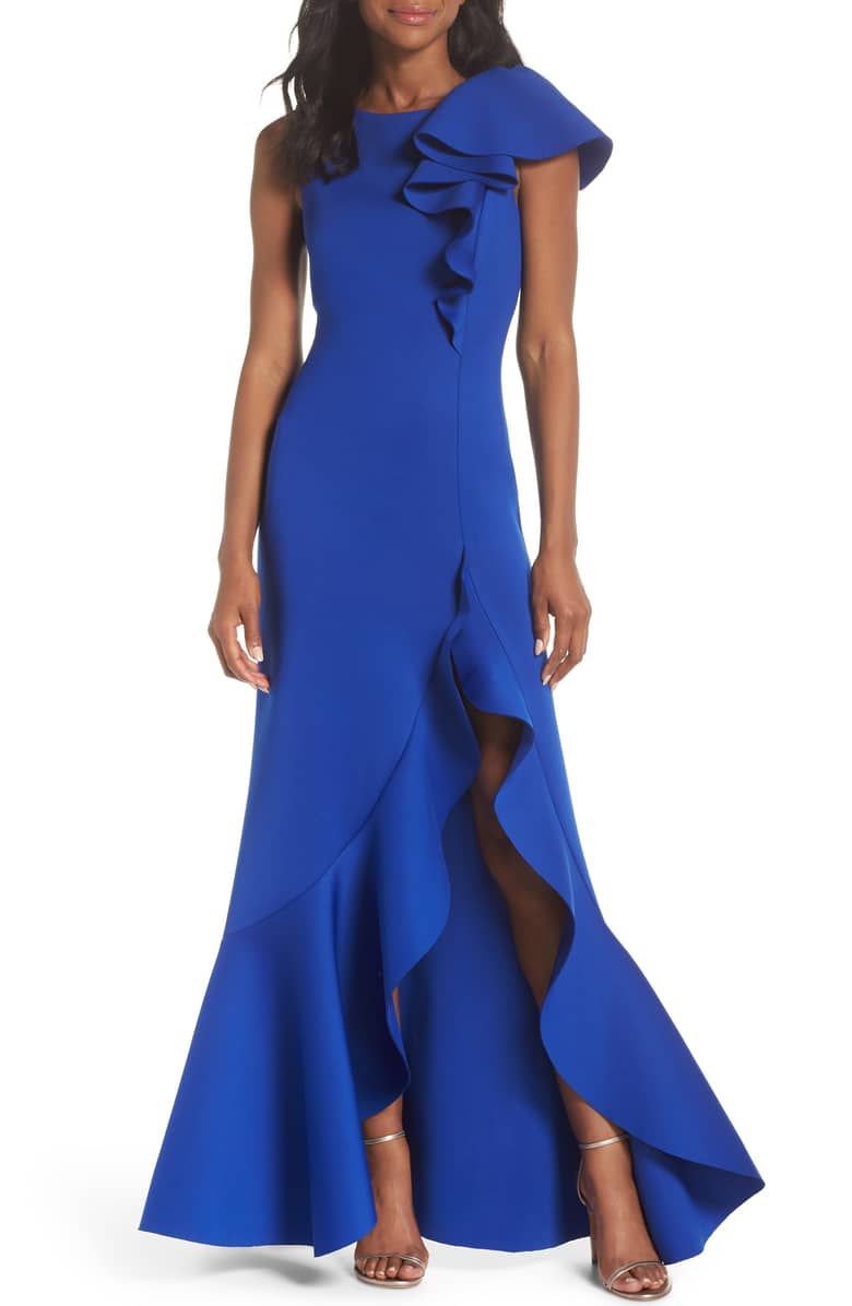 Make a statement in  this dress . It's hard to go wrong with this color!