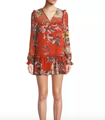 This print is perfect for fall! Pair  this dress  with some booties & you are all set.