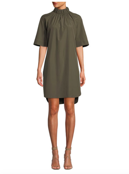 We love the color of this  dress  from Neiman Marcus!