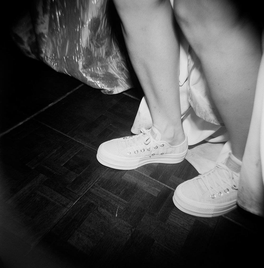 Custom Billy Reid sneakers were the perfect choice for this fun bride!  509 Photo