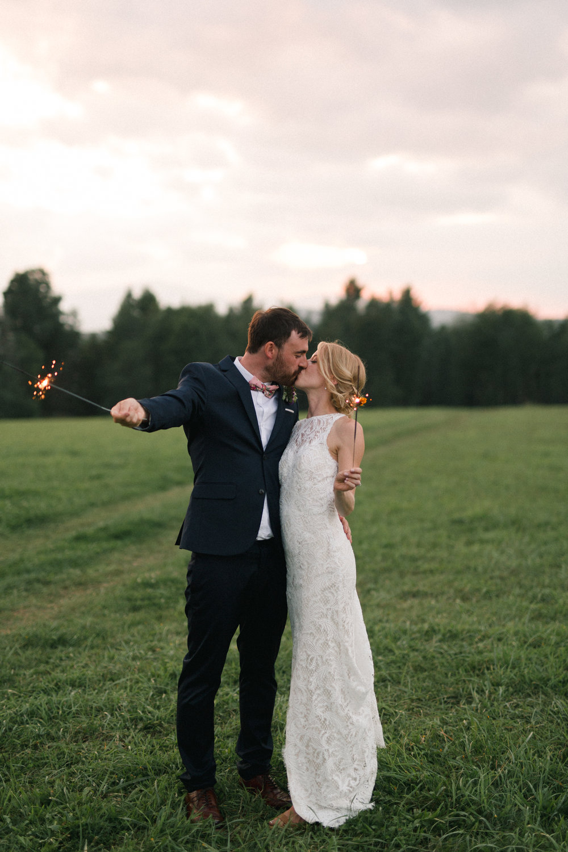 Greenhouse wedding near Stowe, Vermont