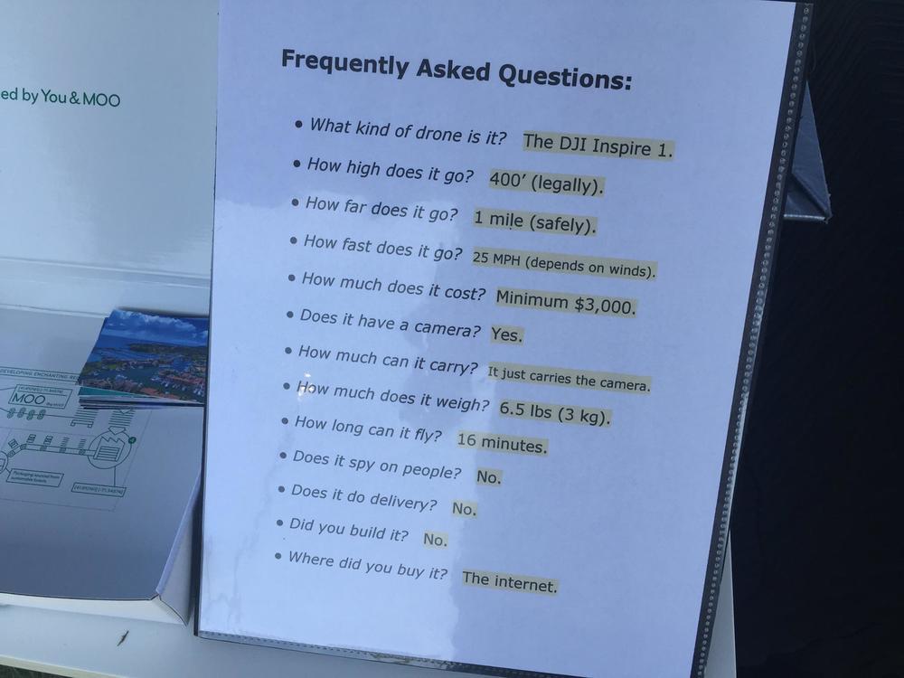 FAQ for Inspire 1 drone.