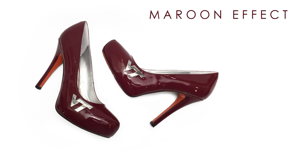 maroon effect hokie heels