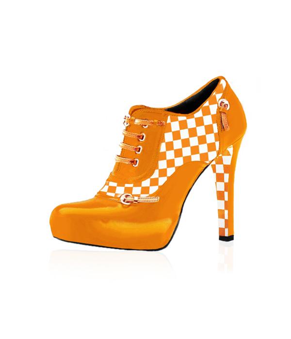 Tennessee Vol Heels Bootie