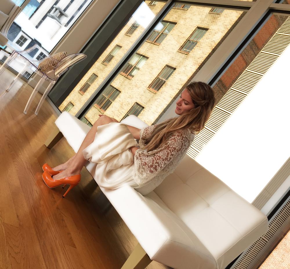 Stephanie Smith (ZassJewelryDesigner/Model/Entrepreneur/Bride-to-be) in The Glass Box.