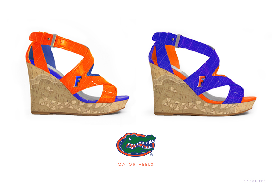 Florida Gator Heel Wedges