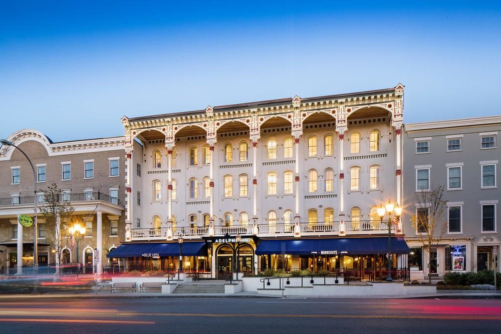 "The Adelphi Hotel - Special nightly-rate for the Mostly Modern Festival, when you call (518) 678-6000 and mention ""Mostly Modern"". This discount only applies to phone reservations; there are no online discounts. Good for any Sunday—Thursday for the month of June, 2019."