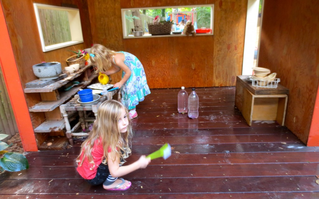 Their play arc involves cleaning the house and cooking up a storm.