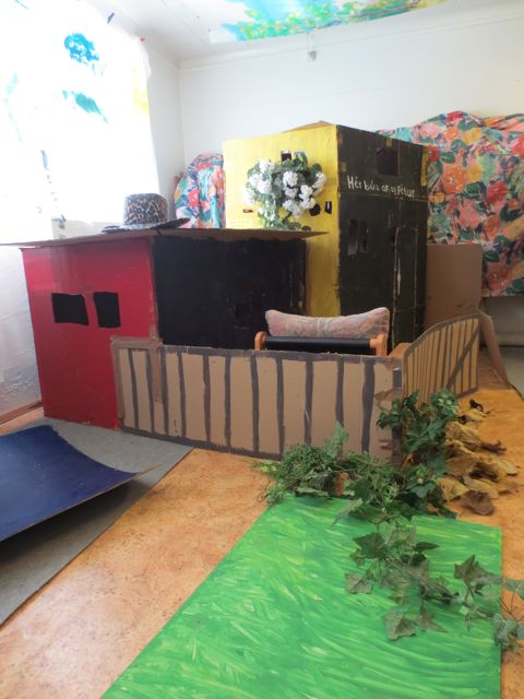 "Children at the Reggio-inspired school, the Alfaborg playschool, have created and now inhabit ""Peter and the Wolf."""