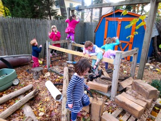 The castle still stands. Its dungeon filled with debris becomes a new play space.