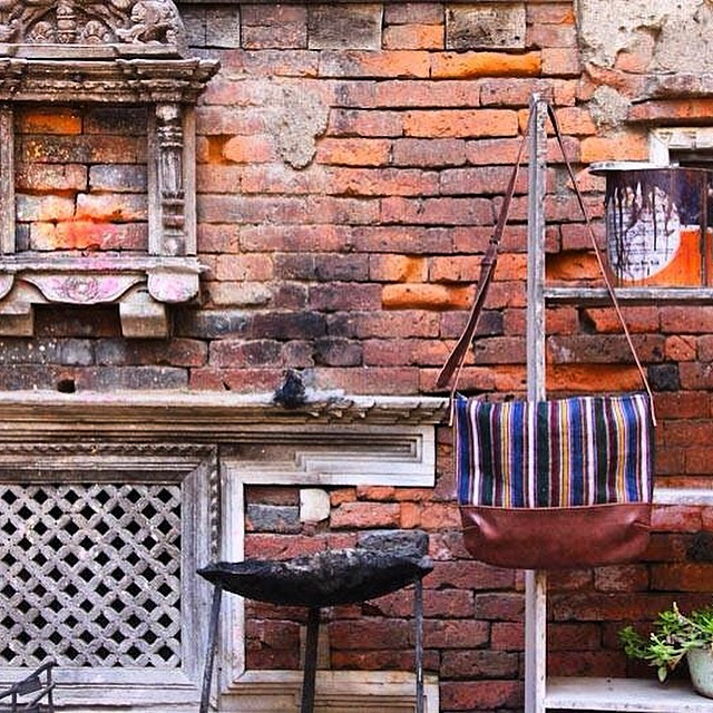 "Made from #upcycled Tibetan aprons ""Pangden"" handwoven on mobile looms 40-150 years ago at the roof of the world. Limited supply recycled and transported by yak, porter and bus to our workshop in Kathmandu. #estwst #consumeconsciously #connectglobally #sustainablefashion #culture #ethical #slingbag"