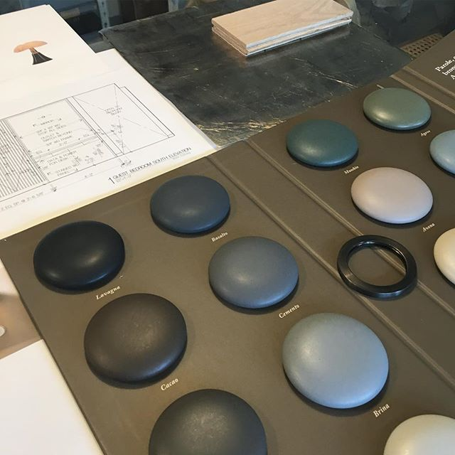 What Powder Room dreams are made of. These ceramic plumbing fixture samples (who knew!??) are EVERYTHING.