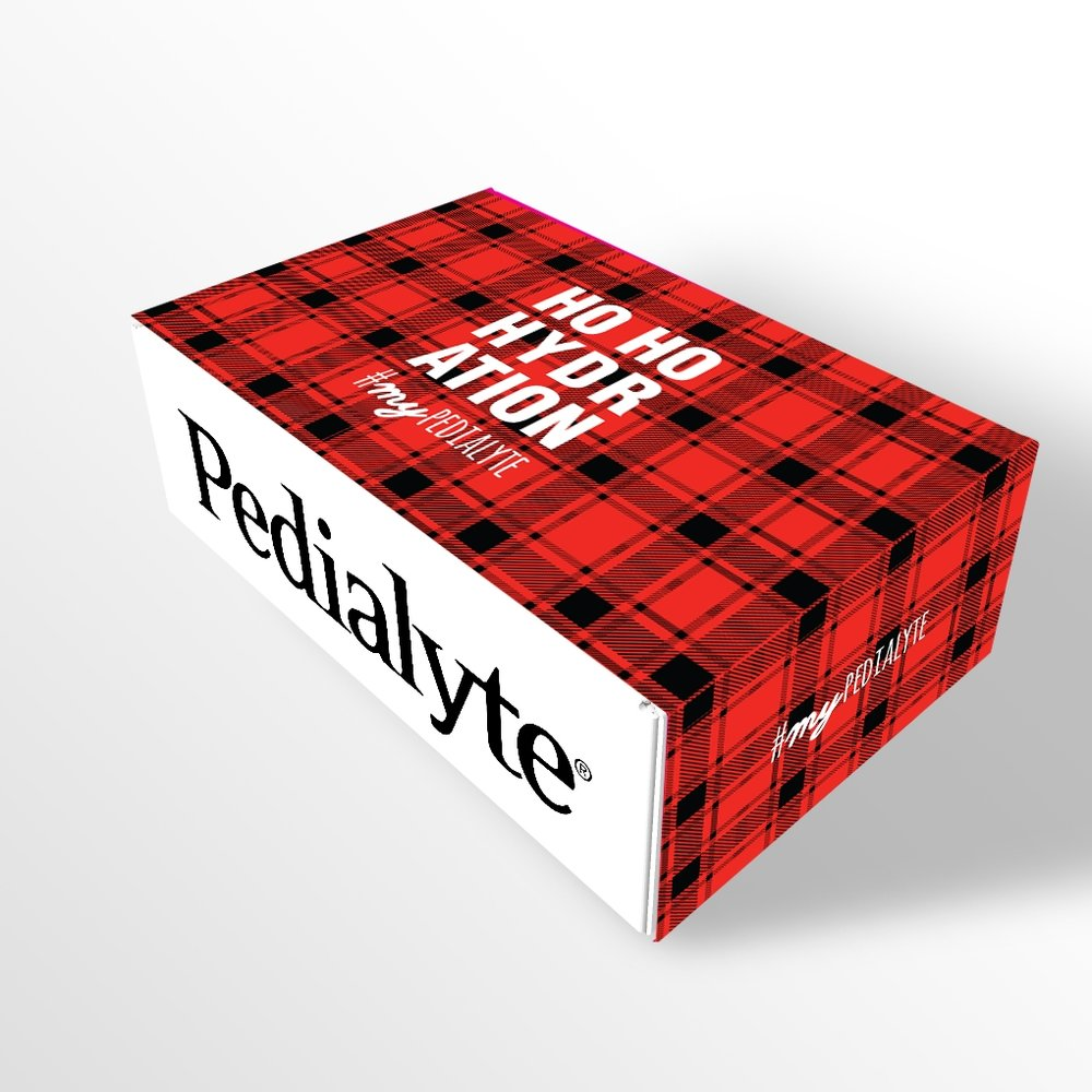 Pedialyte New Years Eve Suprise and Delight Kit—Plaid Concept