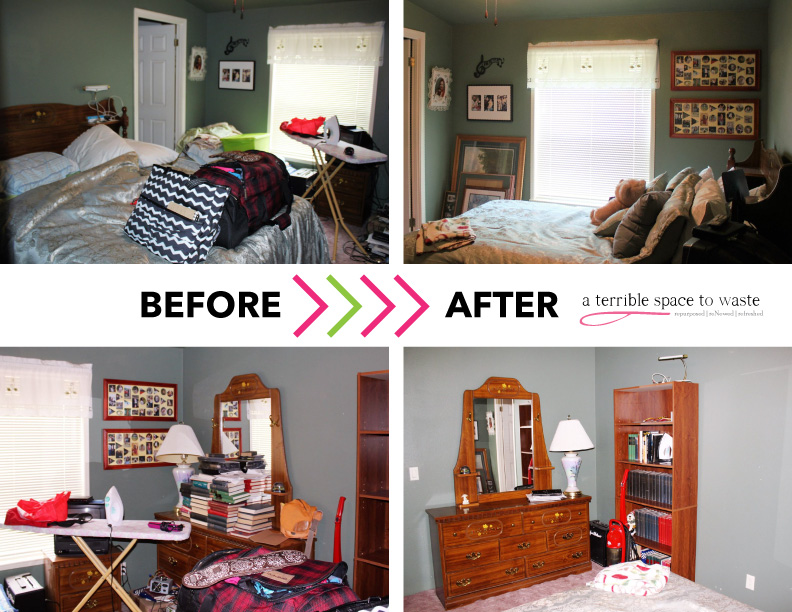 Rearranging a room from guests-only to usable space