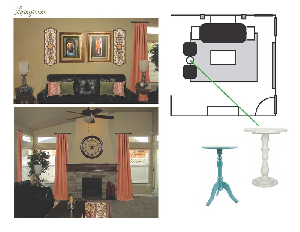 Furniture placement can be hard to visualize. Working up a layout for placement helps identify where to use the things you have already and where you might need something new.
