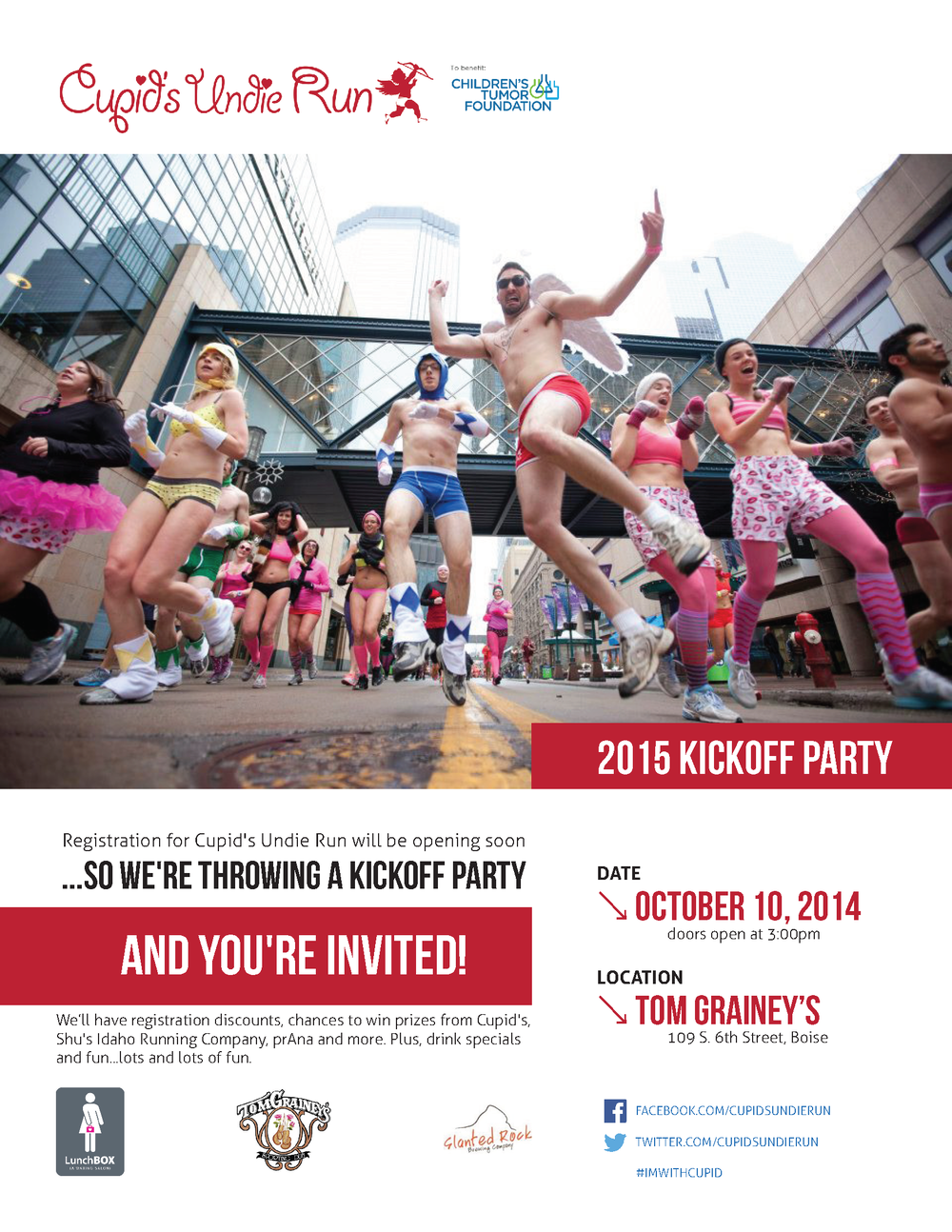Cupid's Undie Run - Kickoff Flyer
