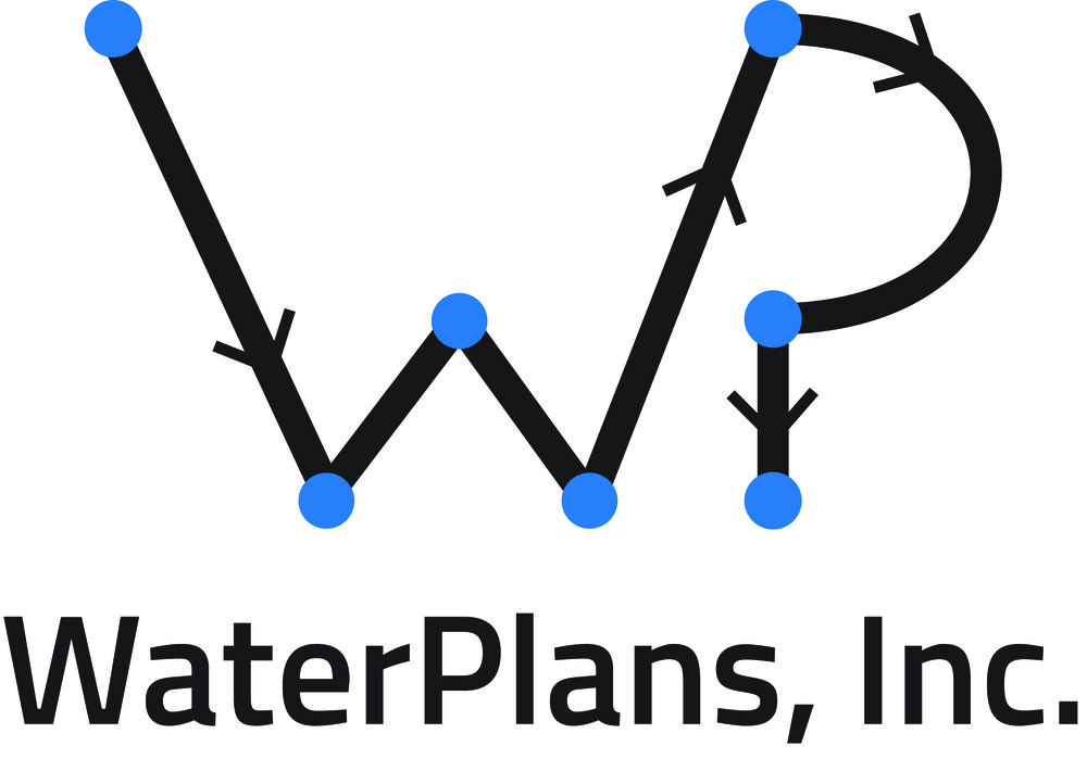 New logo, business cards and brochures for WaterPlans, Inc. (2014)