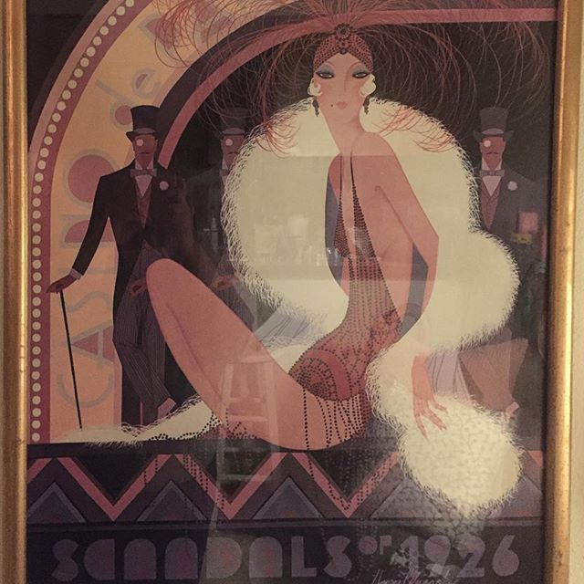 The best #vintageshop find of the whole #Portland #shoppingtrip! #Scandals of #1926 by #harrywysocki, the perfect #inspirationpiece for this #1920sdeco #glam apartment #design. Seriously, love this SO much...and I could not have planned a better fit if I tried. #spontaneousdesign #vintageglam #interiordesign #interiorstyling #designich #designer #artnouveau #deco #livingroomdecor #walldecor #pinkandgold #blushandgold #blushandgray #blackandgold