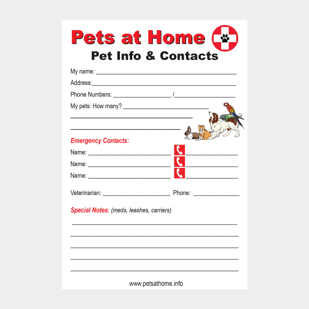 Indoor Pet Info & Contact Magnet