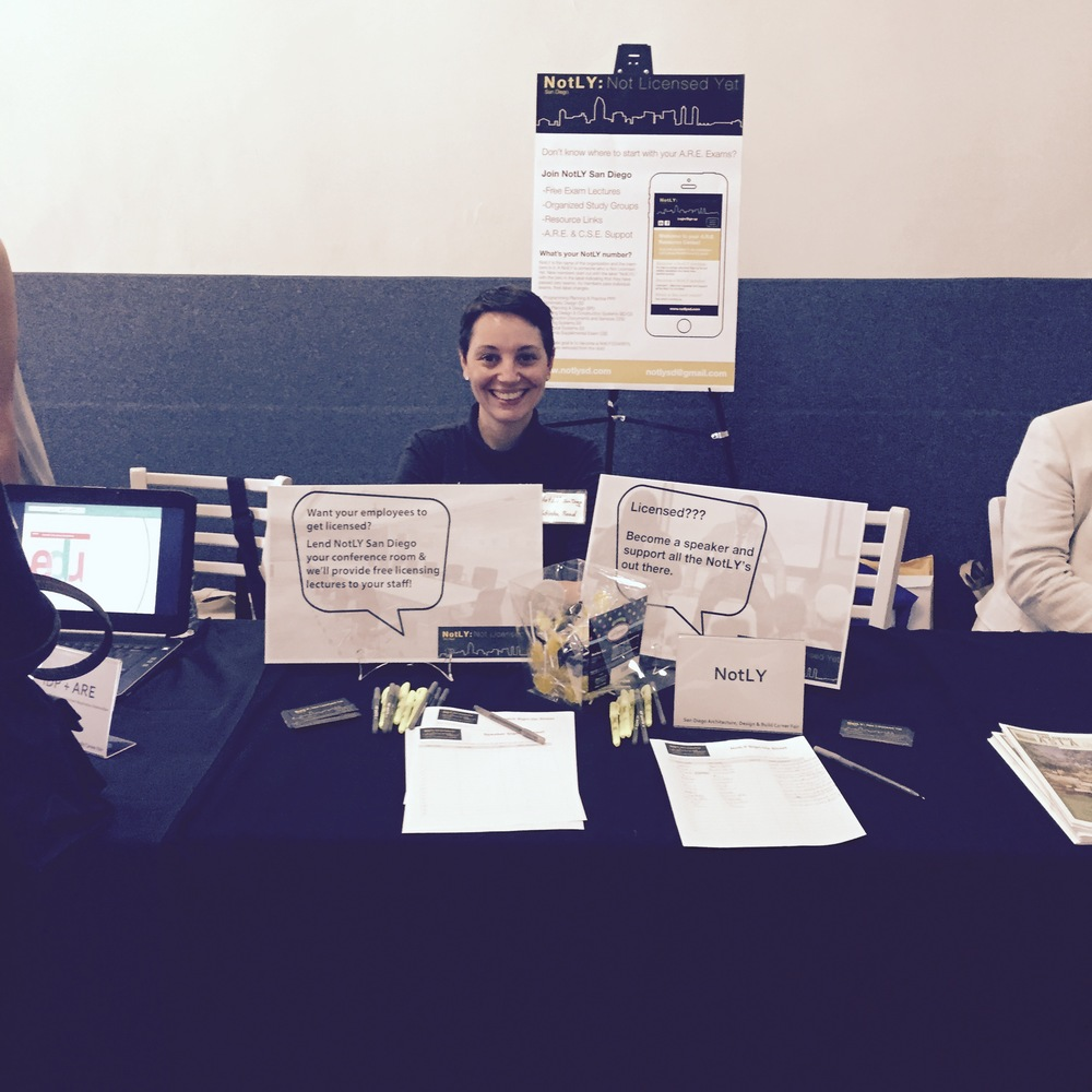 NotLY San Diego at San Diego Architecture, Design & Build Annual Career Fair April 2015