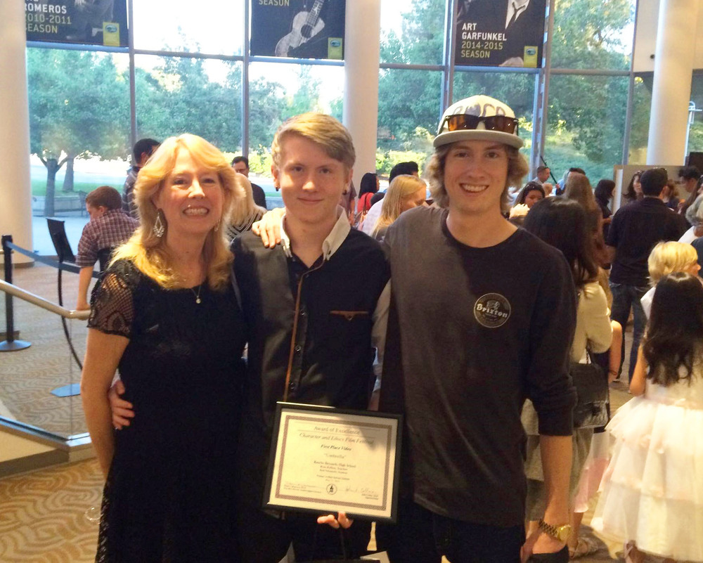 Kyle, Larz and Proud Mom!