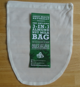 Nut bag - these are great when you want to make a juice or nut milk. Simply blend your ingredients in your vitamix and then strain through a nut bag. I got mine at Famous Foods, but I believe Whole Foods carry them. You can also buy on  amazon .