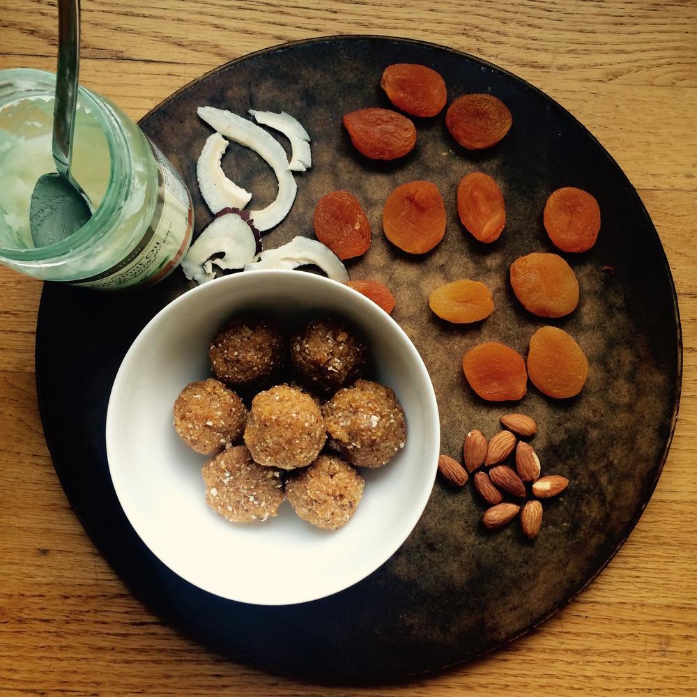 apricot coconut energy balls