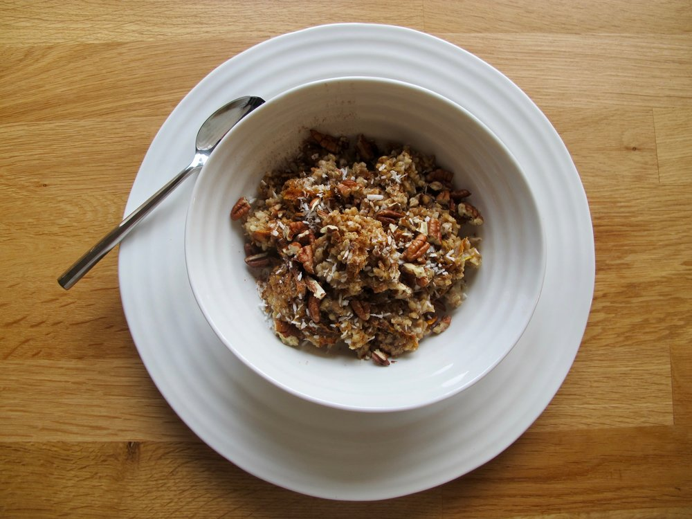 vegan carrot cake oatmeal