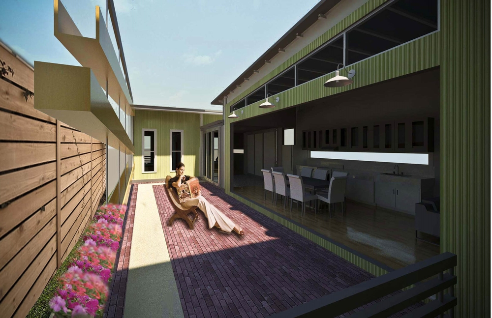 New Orleans Courtyard Home Plans
