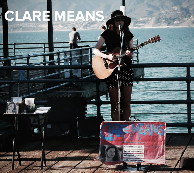 I met Clare Meanswalking down the Santa Monica Pier. She was jamming out in the cold. Power to her! I bought her album,War for Love, right on the spot.